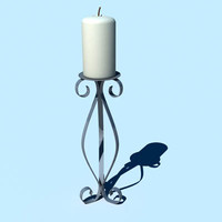 3d candle candlestick model