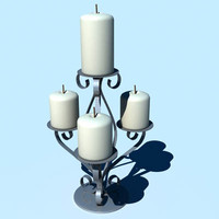 candle candlestick 3d lwo