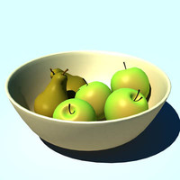 fruit bowl fruitbowl 3d lwo