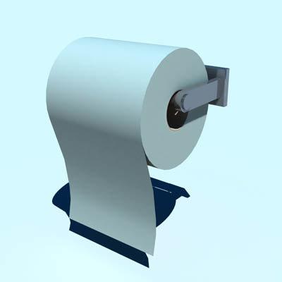 3d model toilet roll