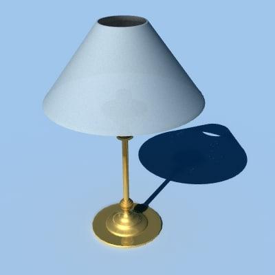 brass table lamp 3d lwo