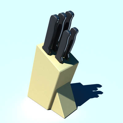 knives block 3d model