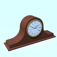 clock mantle 3d lw