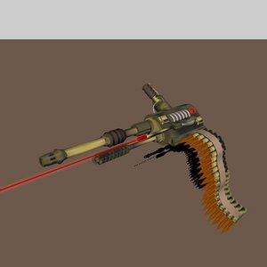 3d c4d 30mm machine gun