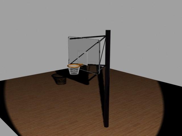 basket basketball 3d model