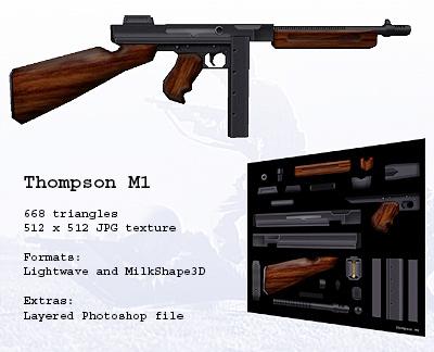 lwo thompson m1 submachine gun