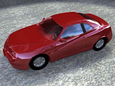 3ds alfa romeo car