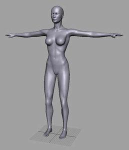 human female woman 3d model