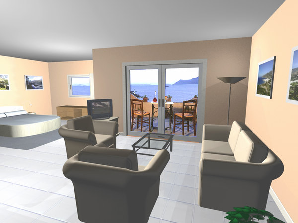 hotel suite 3d model