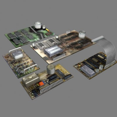 3d model electronic boards