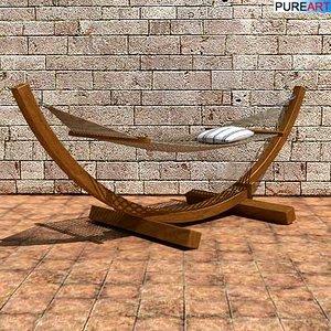 garden furniture hammock 3d model