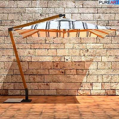 3d garden furniture sunshade model