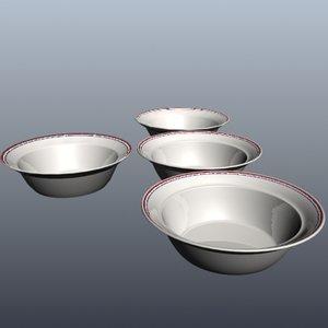 corelle bowl 3d model