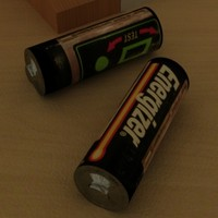 energizer battery zipped 3d model