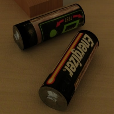 energizer battery zipped 3d model