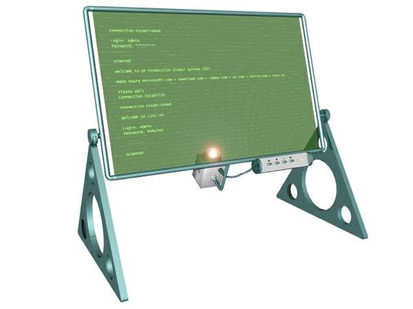 free lwo model futuristic monitor