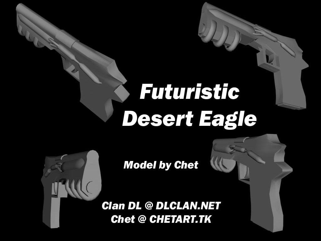 3d futuristic desert model