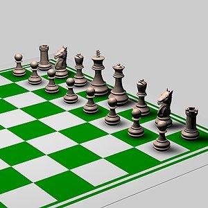 board pieces 3d model