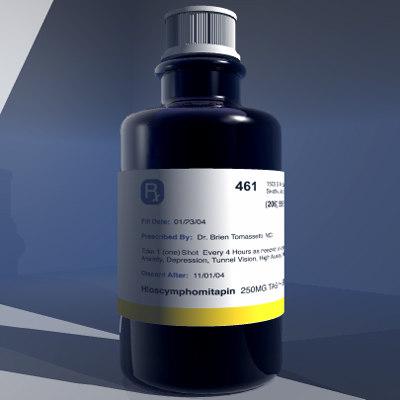 3d 3ds medicine bottle