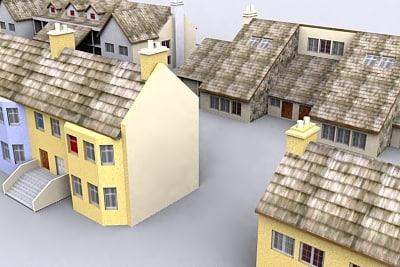house urban 3d 3ds