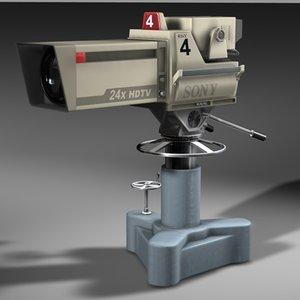modern tv studio camera 3d model