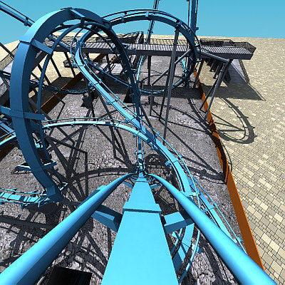 rollercoaster track ride 3d model