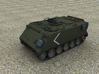 m113 armoured carrier 3d max