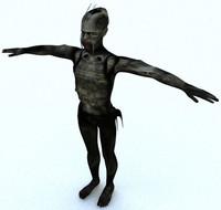 3d model alien human