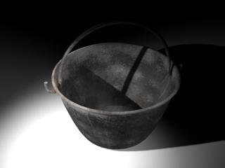 3d model bucket cement