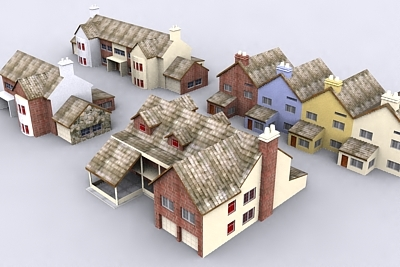 3ds max house urban