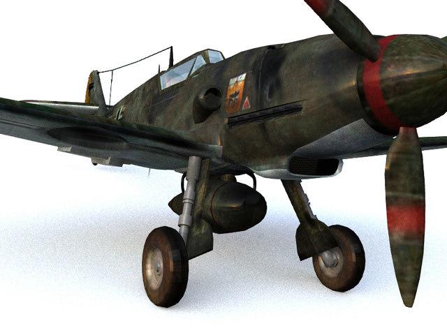 3d messerschmitt 109 model