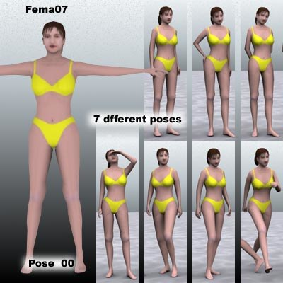 3ds max human female girl