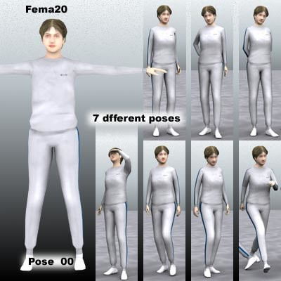 human female girl 3d c4d
