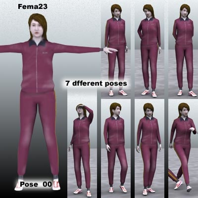 human female girl 3d 3ds