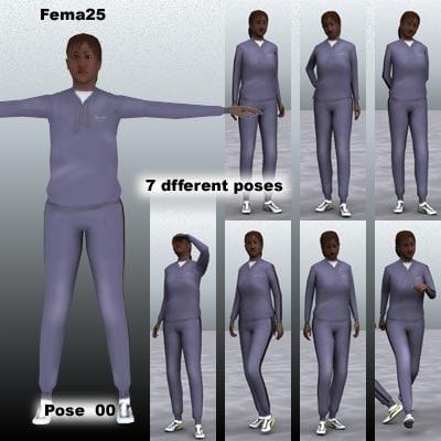 3d model human female girl