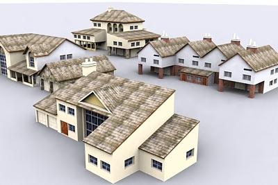 house urban 3d model