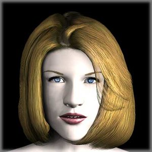 3ds max character human girl