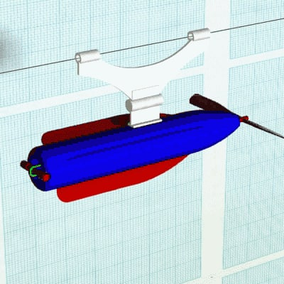 rubberband rocket toy 3d model