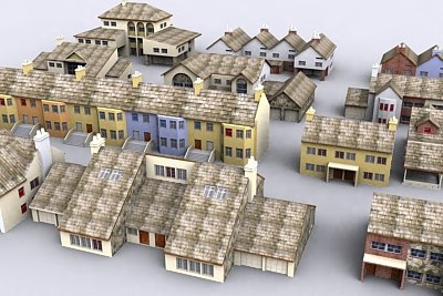 house urban pack 3d model