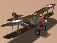 sopwith snipe fighter plane 3d model