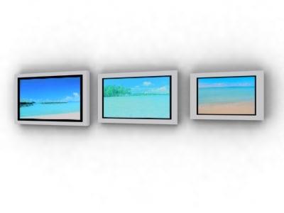 3d model plasma screens