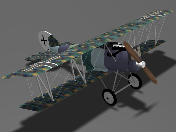 pfalz d-xii fighter d 3d 3ds