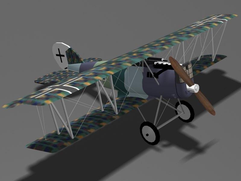 pfalz d-xii fighter d 3d 3ds