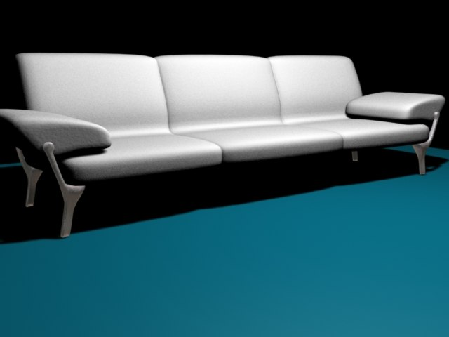3d couch model