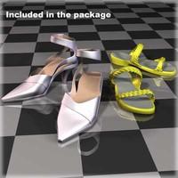 3d model shoes female body