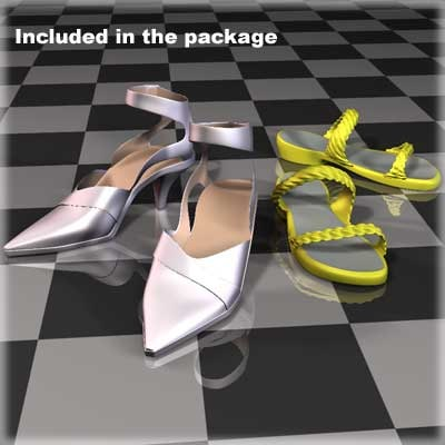 3d model shoes female body