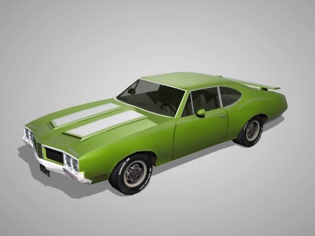 oldsmobile cutlass 1970s olds 3d model