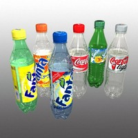 plastic bottles 3d model