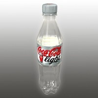 coca-cola light plastic bottle 3d model