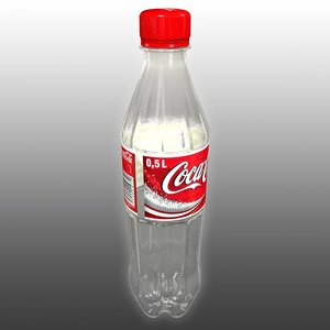 coca-cola plastic bottle 3d model